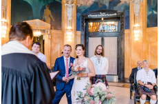 Wedding in Prague Mayor's Hall in Art Nouveau Style