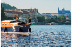Wedding in Prague Romantic Small Boat