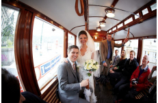 Wedding in Prague Vintage Tram