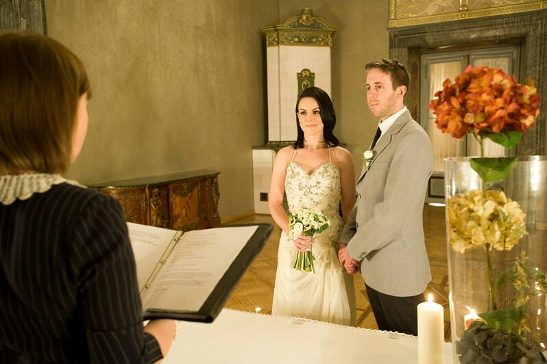 Symbolic Weddings In Prague Kaiserstein Palace Wedding